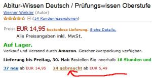 Symbolbild: So gelangt ihr zur Auswahl gebrauchter Bücher auf Amazon